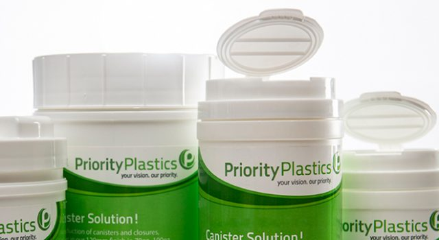 Priority Plastics HDPE Wipes Canisters
